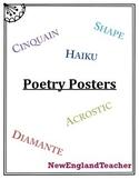 Poetry Poster Pack: Diamante, Haiku, Cinquain, Acrostic, and Shape / Concrete