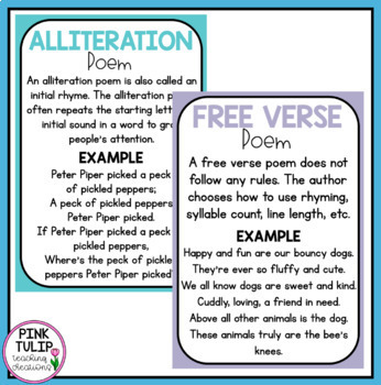 Poetry Posters - Classroom Display