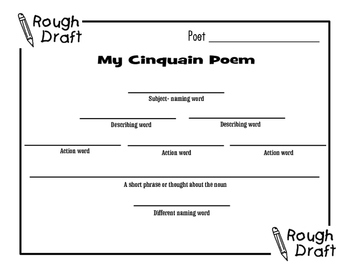 Poetry Posters-Rough Draft and Final Copy Bundle