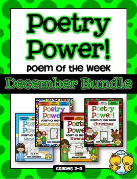 Poetry Power! Daily Literacy Practice DECEMBER BUNDLE