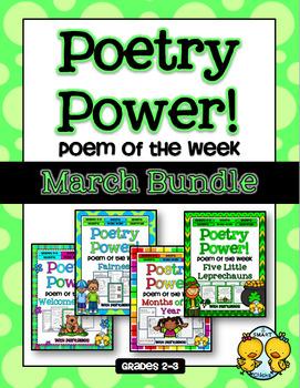 Poem of the Week: MARCH BUNDLE Poetry Power!