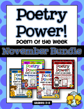 Poem of the Week: NOVEMBER BUNDLE Poetry Power!