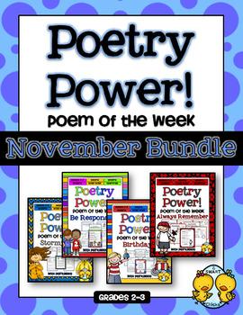Poem of the Week: NOVEMBER BUNDLE Poetry Power!