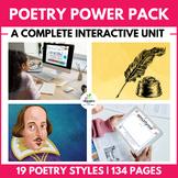 HUGE POETRY UNIT:  4 Full Weeks & 19 Styles of Poetry NO P