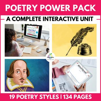HUGE POETRY UNIT:  4 Full Weeks & 19 Styles of Poetry NO PREP REQUIRED!!