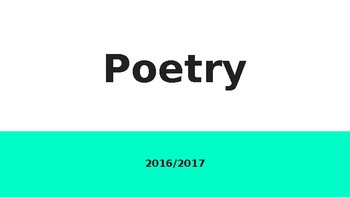 Poetry Power Point
