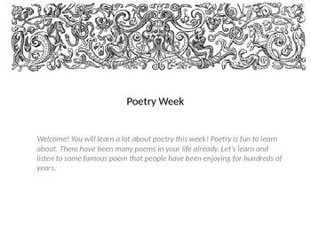 Poetry Power Point 3rd Grade (week long)