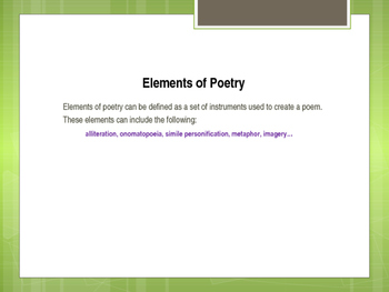 Poetry PowerPoint