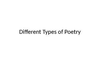 Poetry PowerPoints
