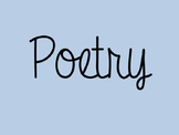 Poetry PowerPoint for introduction