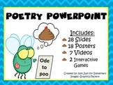 Poetry Powerpoint w/ 7 Video Clips and 18 Word Wall Vocabulary Posters
