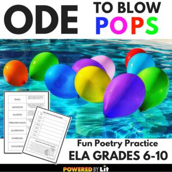 Poetry Practice: Ode to Blow Pops, No-Stress Poetry Activity, ELA 6-10