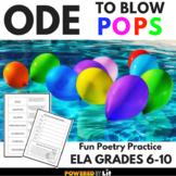 Poetry Practice: Ode to Blow Pops, No-Stress Poetry Activi