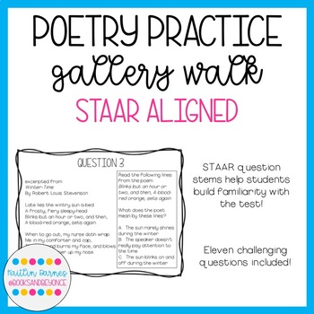 Poetry Question Stems Worksheets Teaching Resources TpT