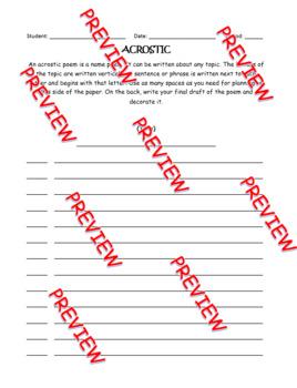 Poetry Practice Worksheets