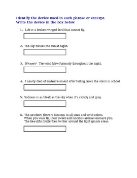 Poetry Practice or Assessment