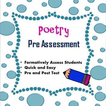 Poetry Pre Assessment
