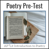 Poetry Pre-Test