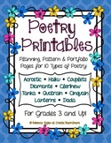 Poetry Printables