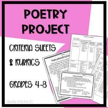 Poetry Project Criteria Sheet & Rubrics - Visual Arts & Poetry - Grades 4-7