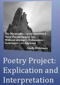 Poetry Project:  Explication and Interpretation