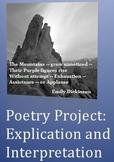 Poetry Project:  Explication and Interpretation