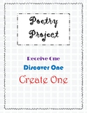 Poetry Project - Receive One, Discover One, Create One