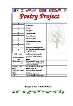 Poetry Project for 9th Grade