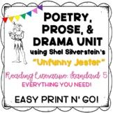Poetry, Prose, Drama Comparison