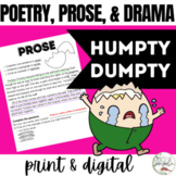 Poetry, Prose, and Drama