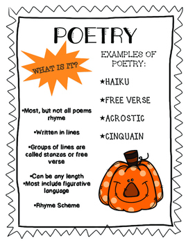 Poetry, Prose and Drama (RL 4.5) Halloween themed!