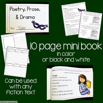 Poetry, Prose, and Drama Interactive Mini Book {RL.4.5}