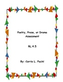 Poetry, Prose or Drama Assessment