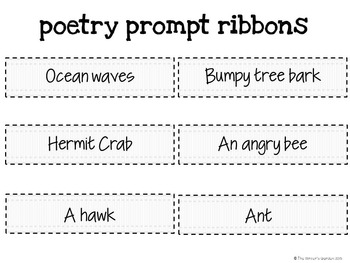 Poetry Writing: A Hands-On Activity