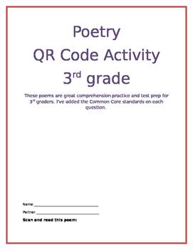 Poetry QR Code Activity 3rd Grade - Great Test Prep