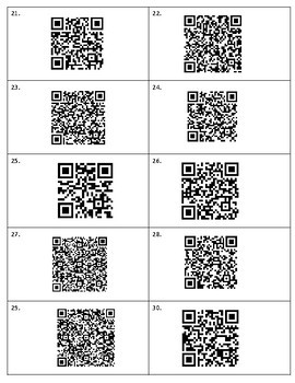 Poetry: QR Codes