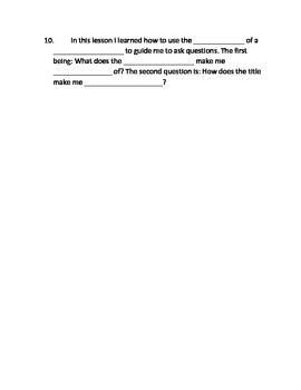 Poetry QR Video Work Sheet Independent (Use Title for Understanding)