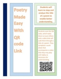 Poetry QR Video Work Sheet Independent (Use Title for Unde