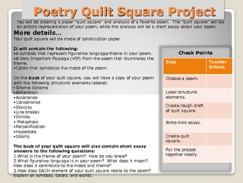 Poetry Quilt Square Project