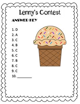 Poetry Quiz- Lenny's Contest