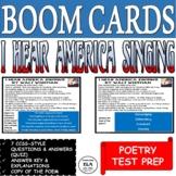 Poetry Quiz Boom Cards Reading Comprehension Test Prep I H
