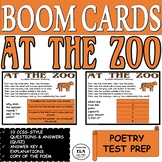 Boom Cards™ Poetry Quiz Reading Comprehension Test Prep Poem At the Zoo