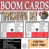 Poetry Quiz Boom Cards Reading Comprehension Test Prep Tha