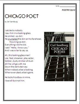 Poetry Quiz- Chicago Poet