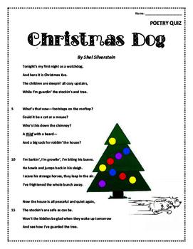 Poetry Quiz- Christmas Dog