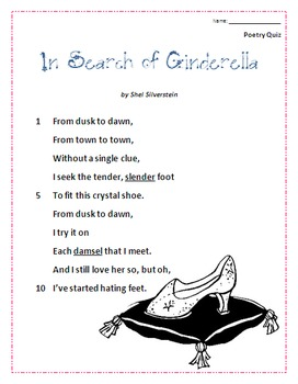 Poetry Quiz- In Search of Cinderella