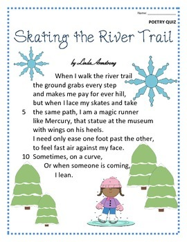 Poetry Quiz- Skating the River Trail