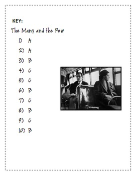 Rosa Parks, The Many and the Few- Poetry Quiz