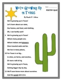 Poetry Quiz- We're Growing Up in Texas
