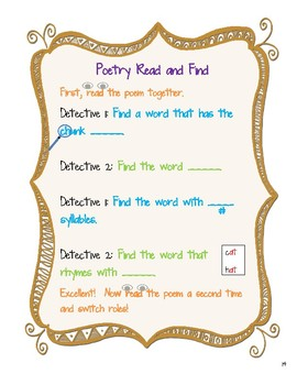 Poetry Read and Find: Differentiated Poetry Center Prompts